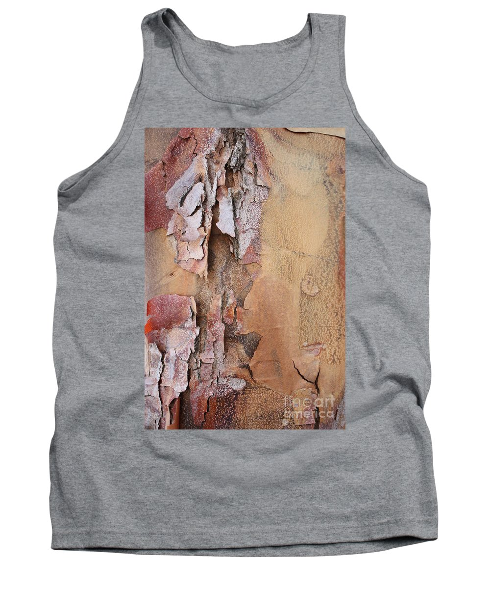 Bark Tank Top featuring the photograph Peeling Bark by Carol Groenen