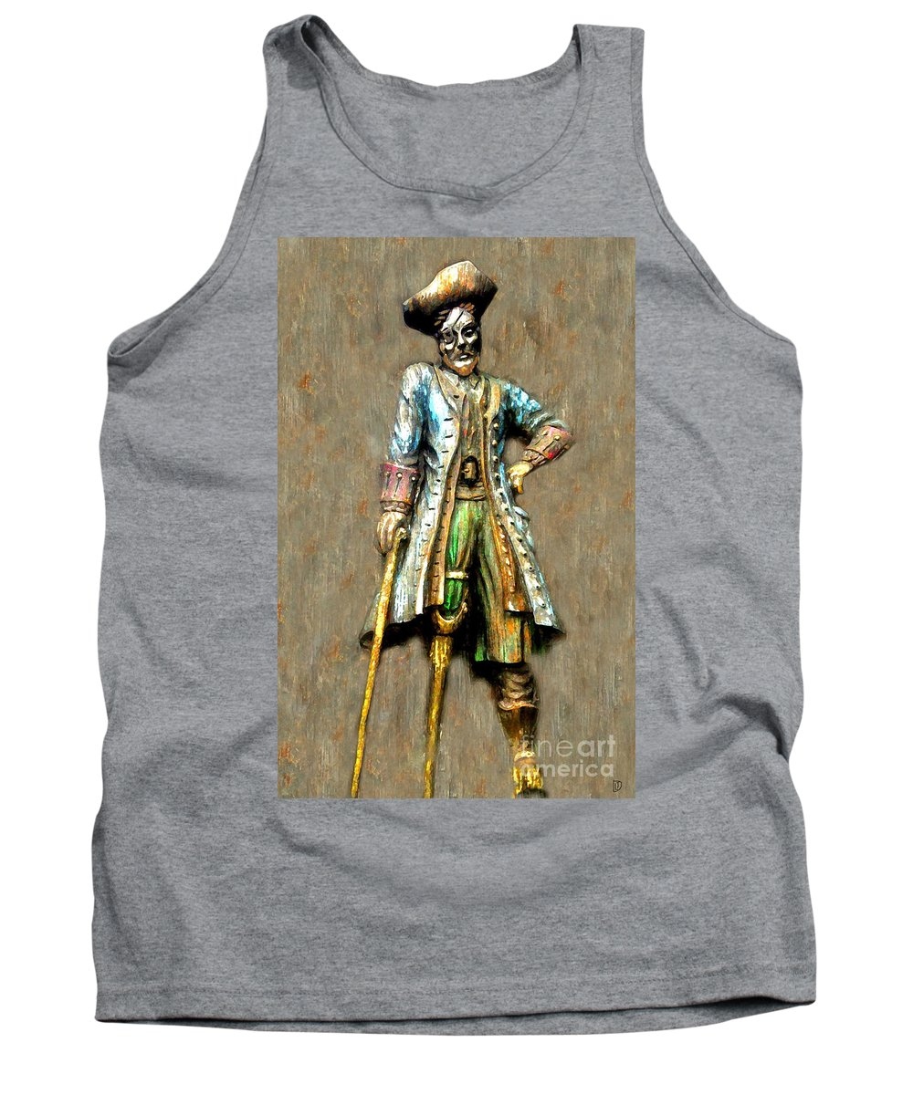 Pirate Tank Top featuring the painting Peg Leg by David Lee Thompson
