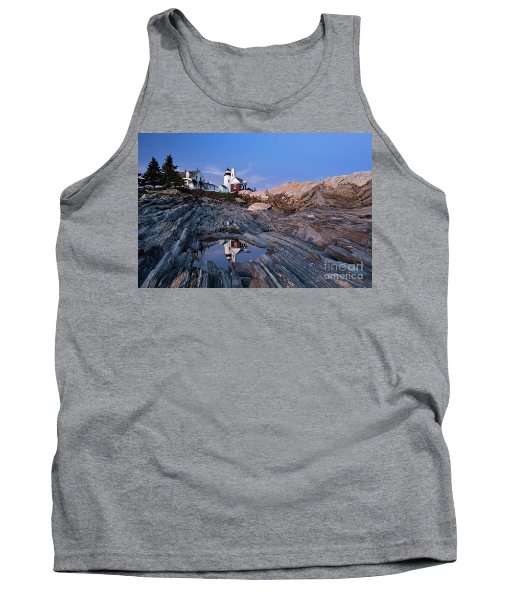 Pemaquid Tank Top featuring the photograph Pemaquid Point Lighthouse - D002139 by Daniel Dempster