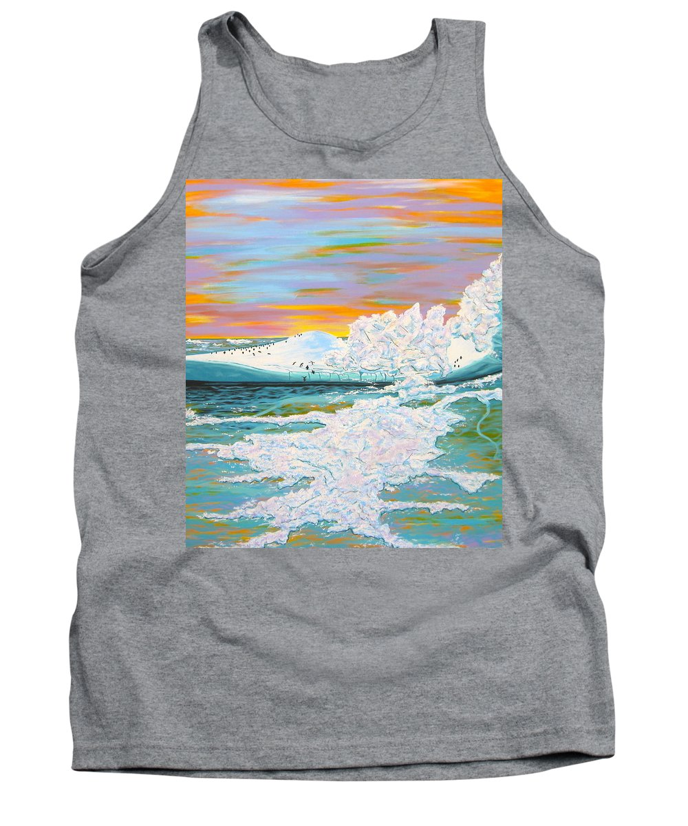Ice Tank Top featuring the painting The Last Iceberg by V Boge