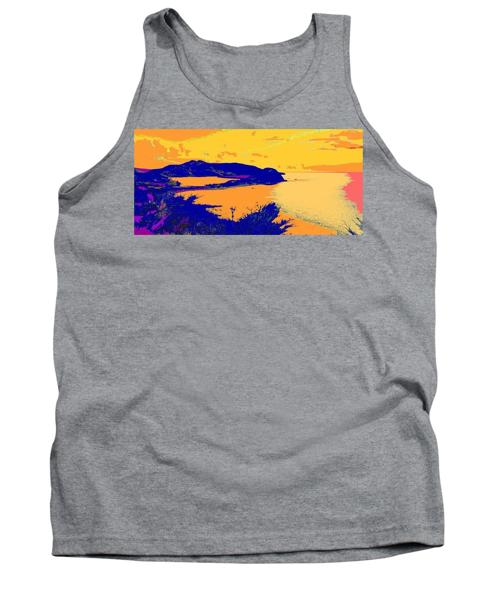 St Kitts Tank Top featuring the photograph Peninsula Orange by Ian MacDonald