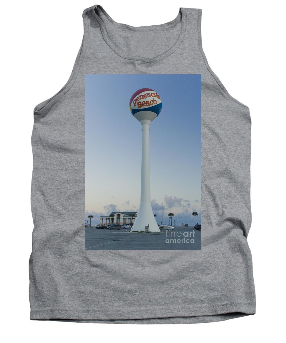 Pensacola Beach Tank Top featuring the photograph Pensacola Beach Water Tower by Tim Mulina