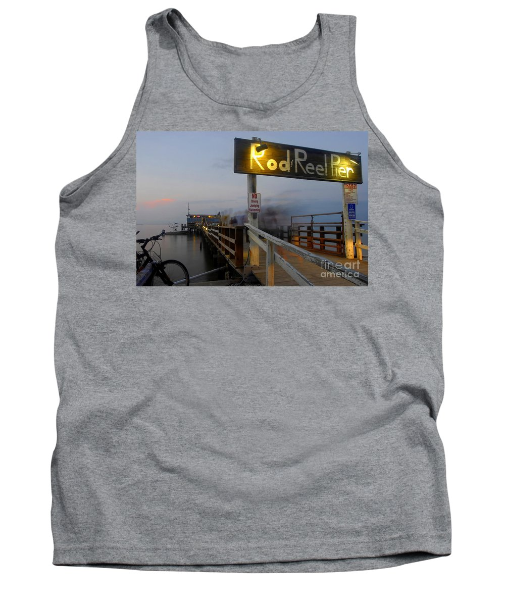 Fishing Pier Tank Top featuring the photograph Pier Group by David Lee Thompson