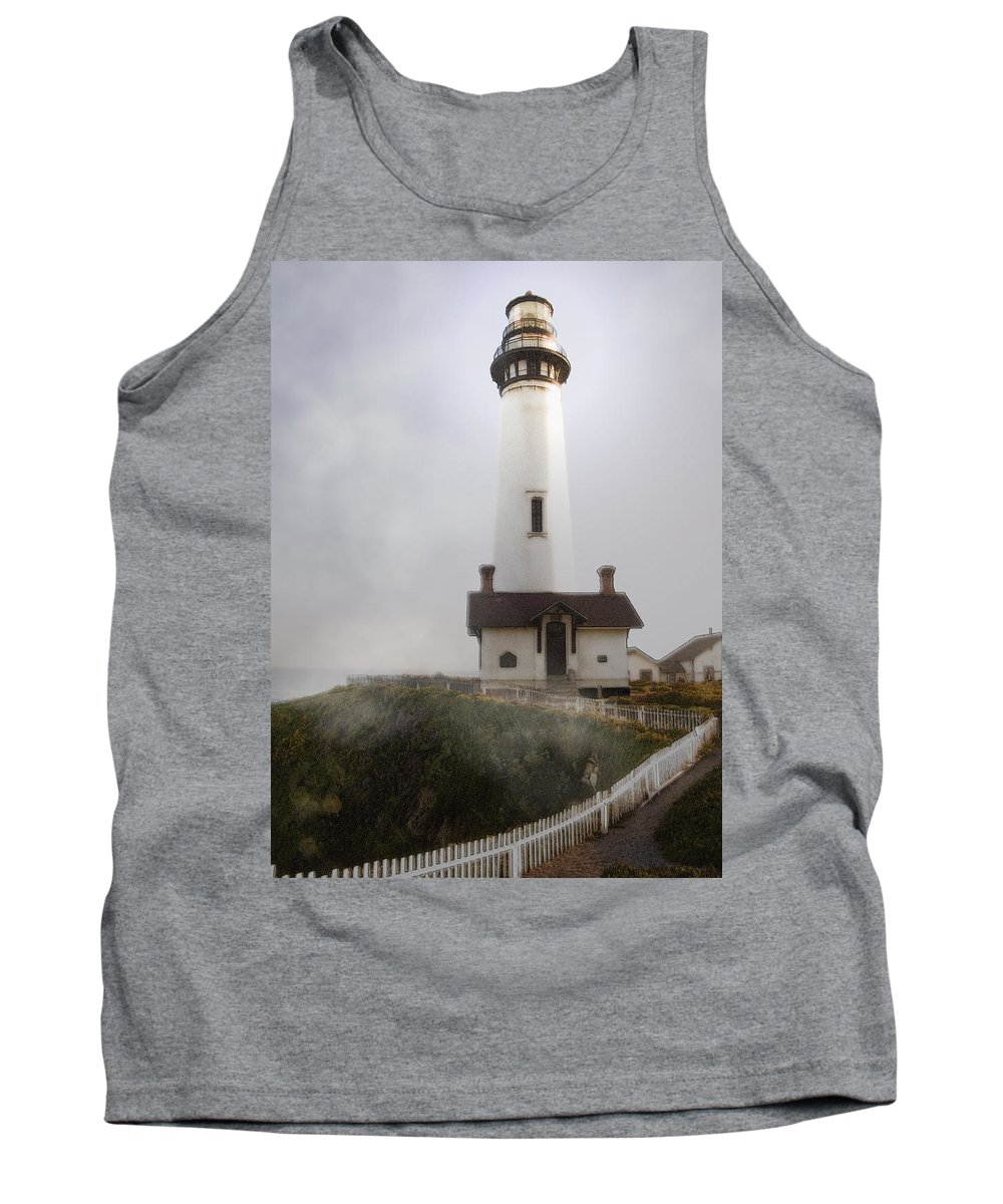 Ocean Tank Top featuring the photograph Pigeon Point Lighthouse by Karen W Meyer