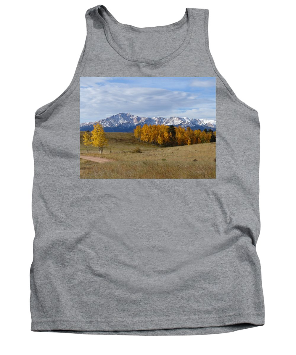 Fall Tank Top featuring the photograph Pikes Peak In The Fall by Carol Milisen