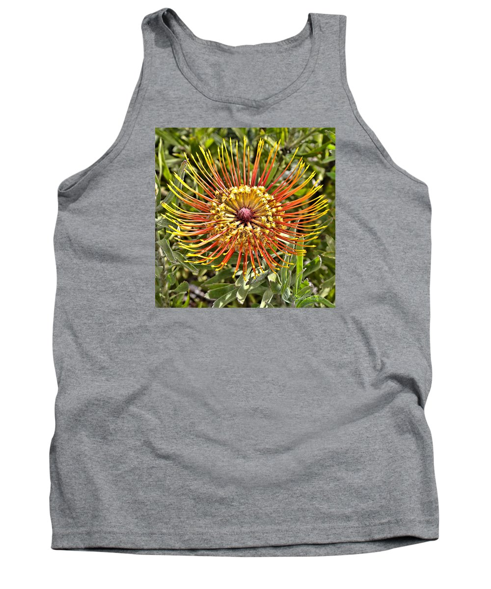 2015 Tank Top featuring the photograph Pincushion Protea by Leon Roland