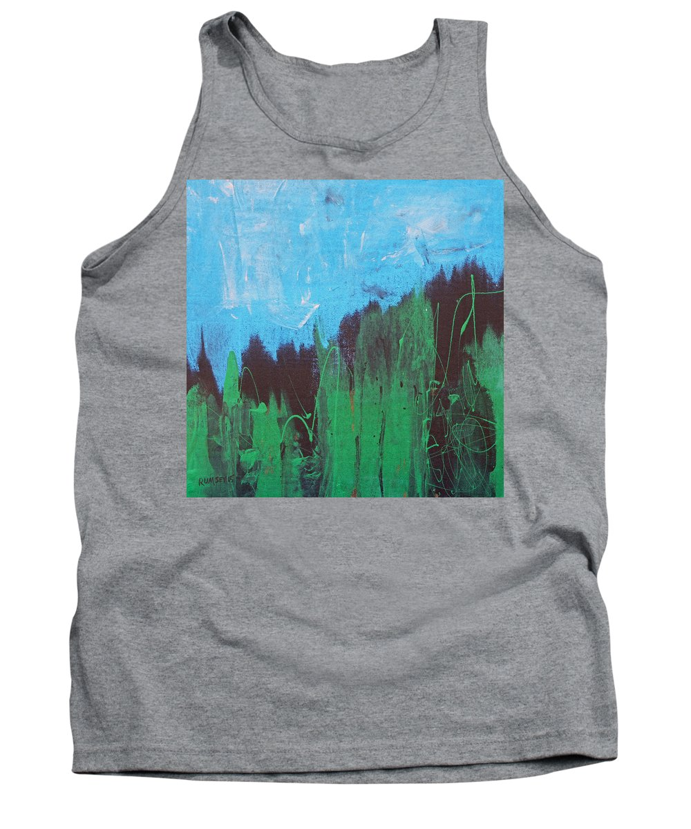 Pines Tank Top featuring the painting Pines by Rhodes Rumsey