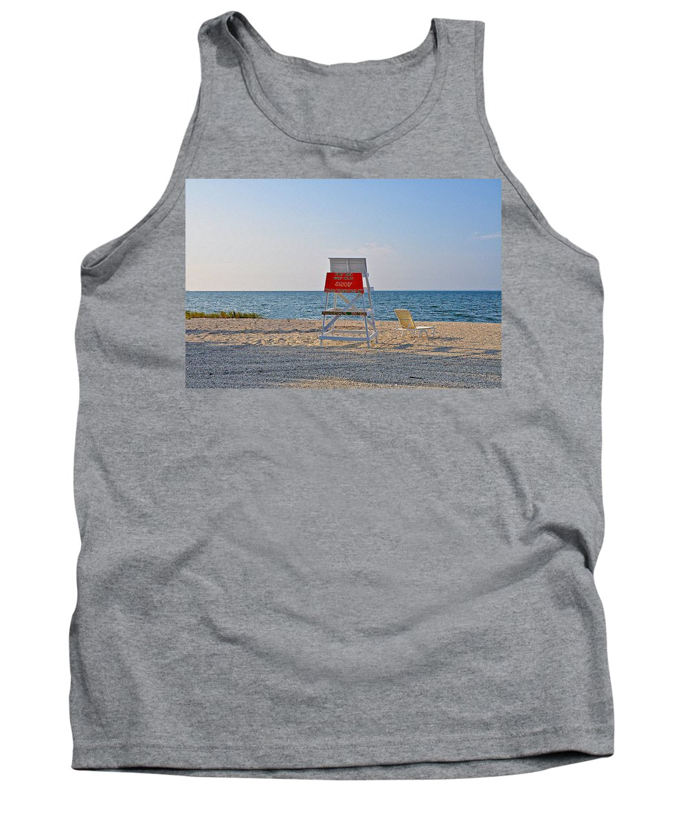 Piney Point Beach Tank Top featuring the photograph Piney Point Beach by Bill Cannon