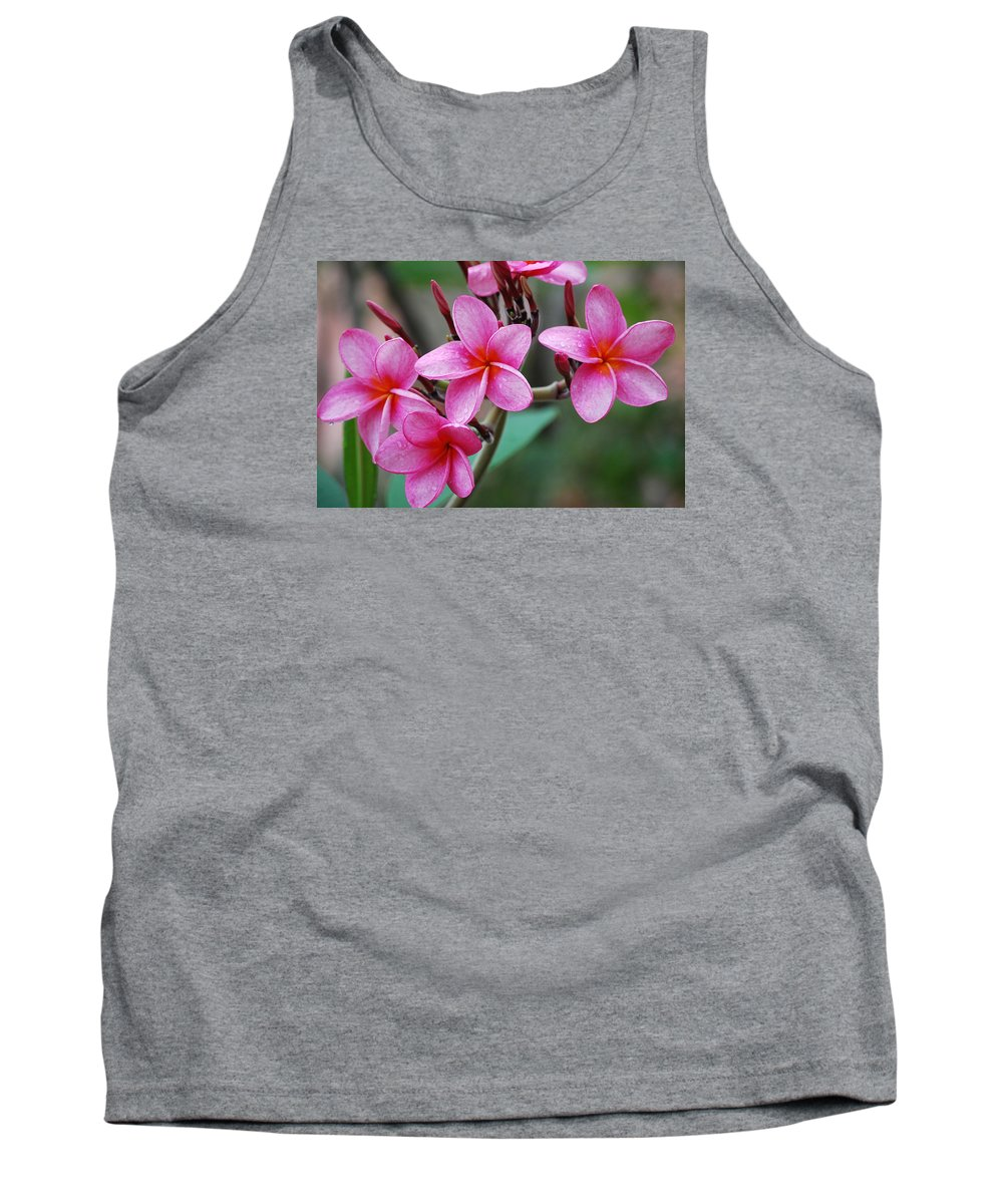 Tank Top featuring the photograph Pink Plumeria 2 by Ronald Hilbig
