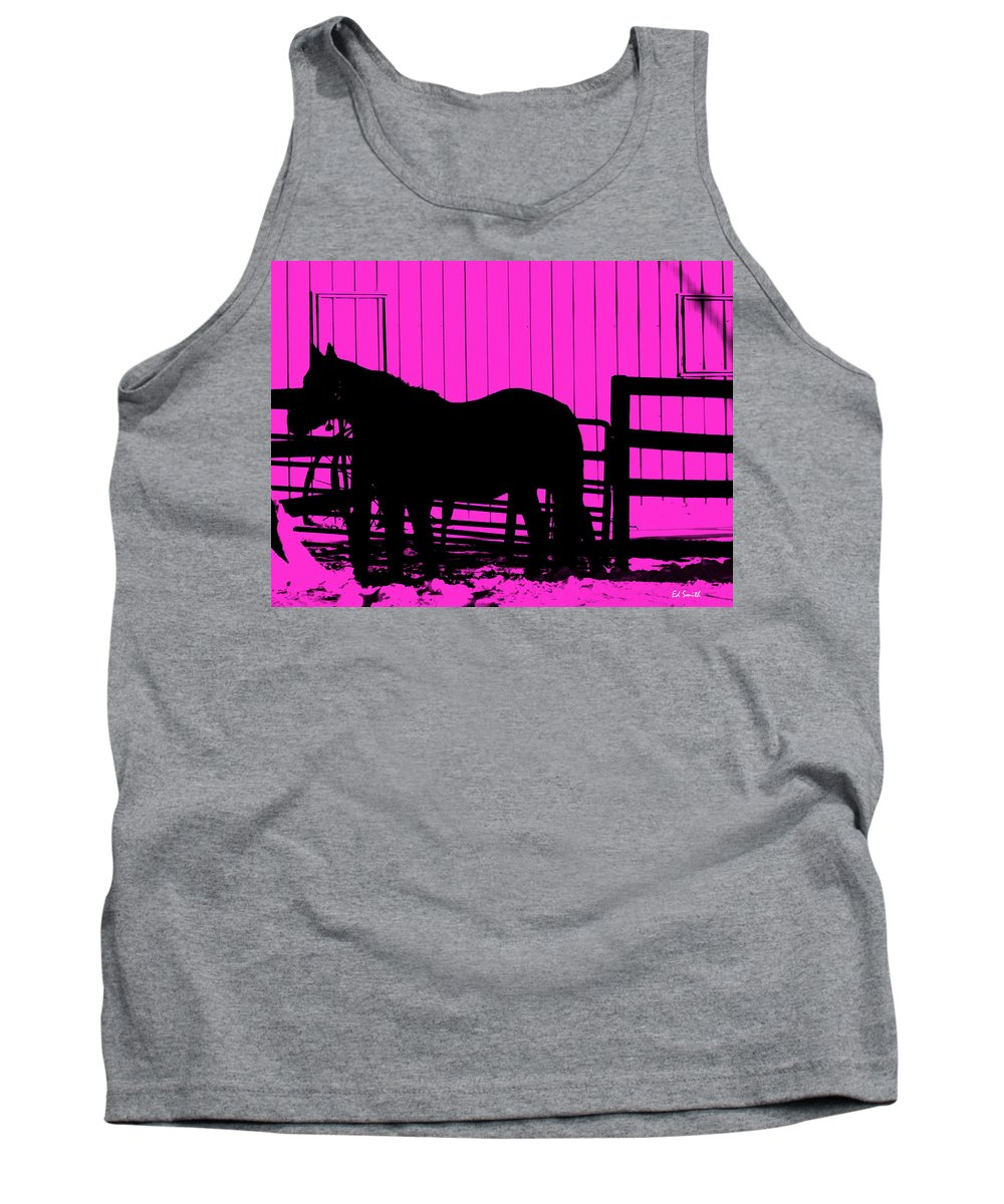Pink Pony Tank Top featuring the photograph Pink Pony by Ed Smith
