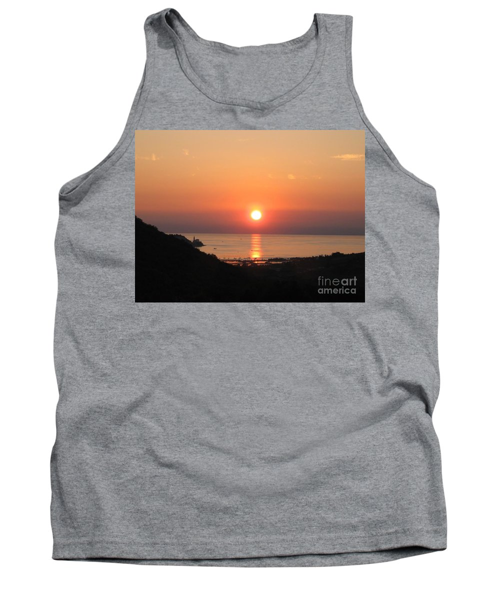 Sunset Sea Tank Top featuring the photograph Piran's Sunset I by Dragica Micki Fortuna