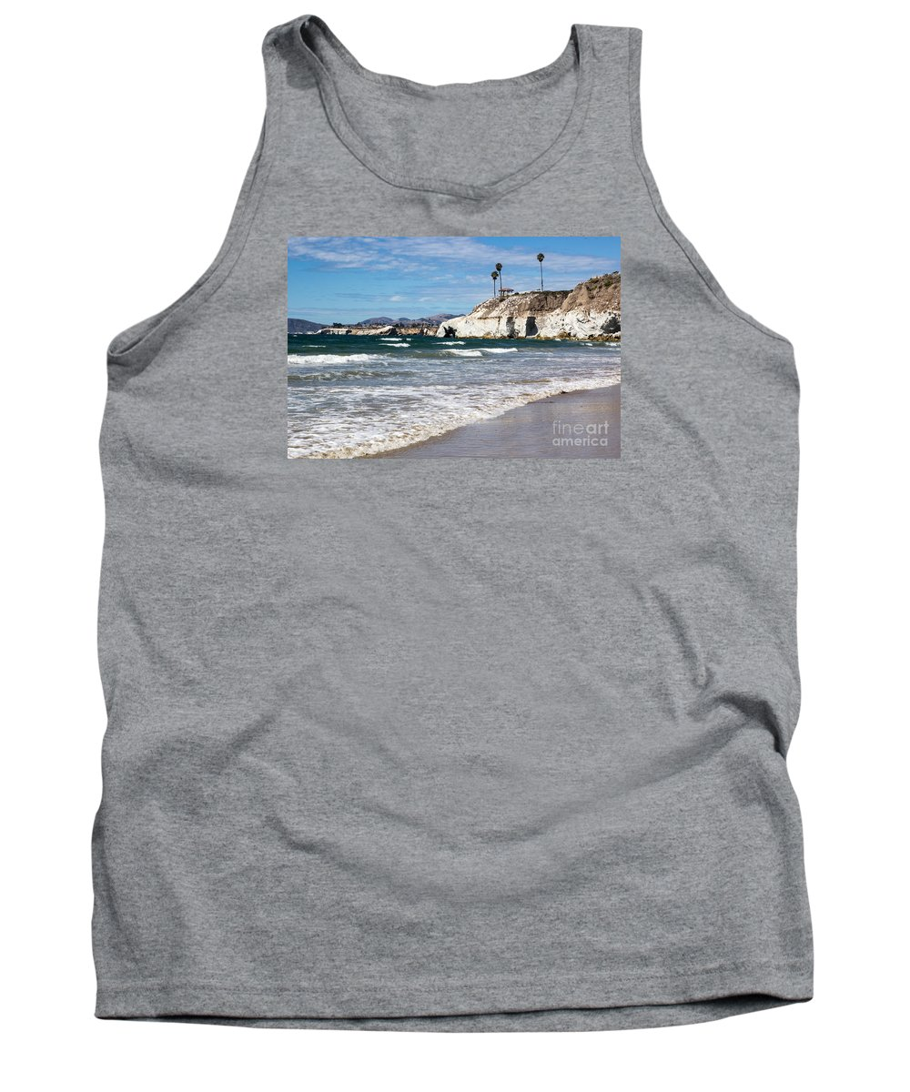 Pismo Tank Top featuring the photograph Pismo Beach Caves by Suzanne Luft