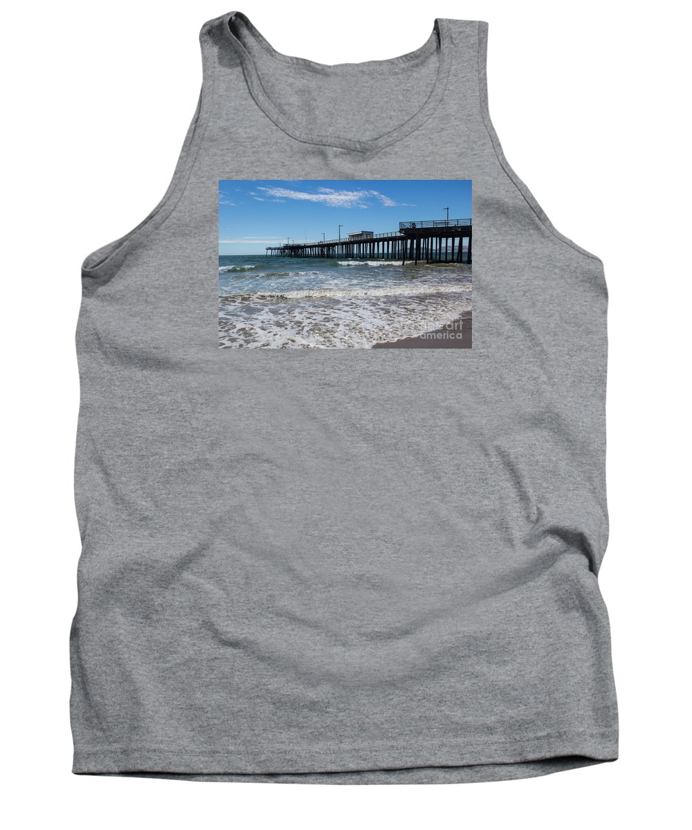 Pismo Beach Tank Top featuring the photograph Pismo Pier by Suzanne Luft