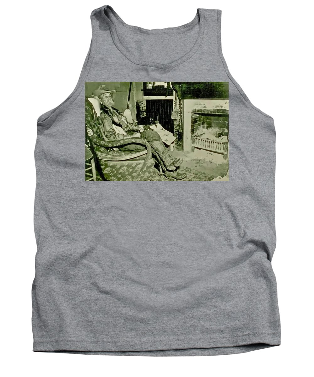 Cowboy Tank Top featuring the photograph Pistol Bill by Gwyn Newcombe