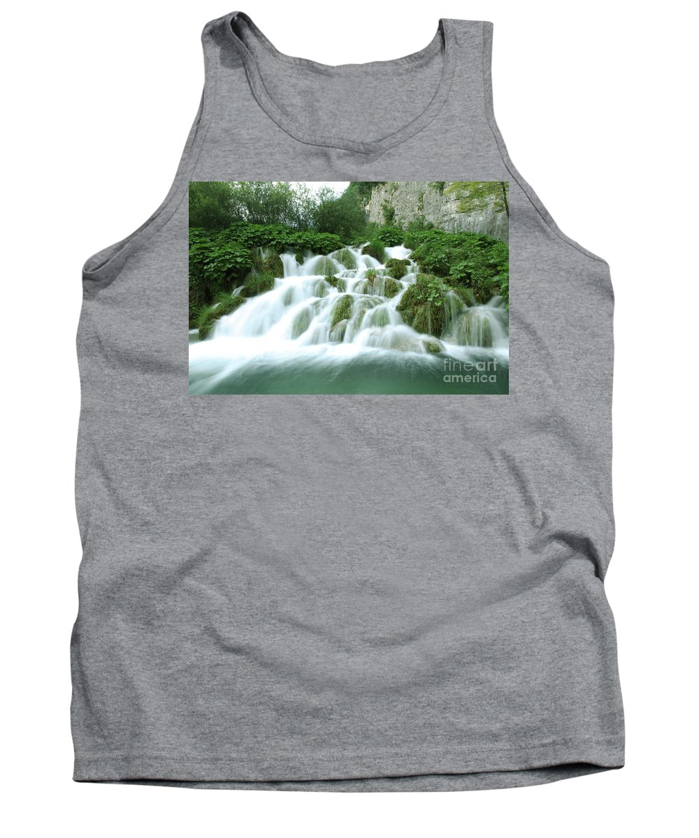 Plitvice Lakes Kroatia Winnetou Tank Top featuring the photograph Plitvice Lakes by Daniel Klein