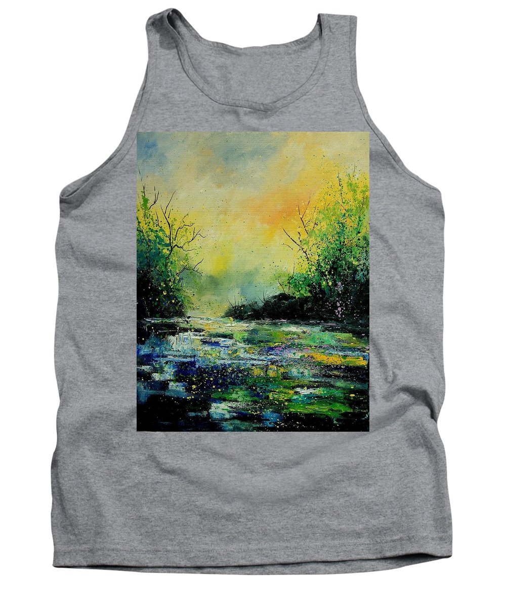 Water Tank Top featuring the painting Pond 459060 by Pol Ledent