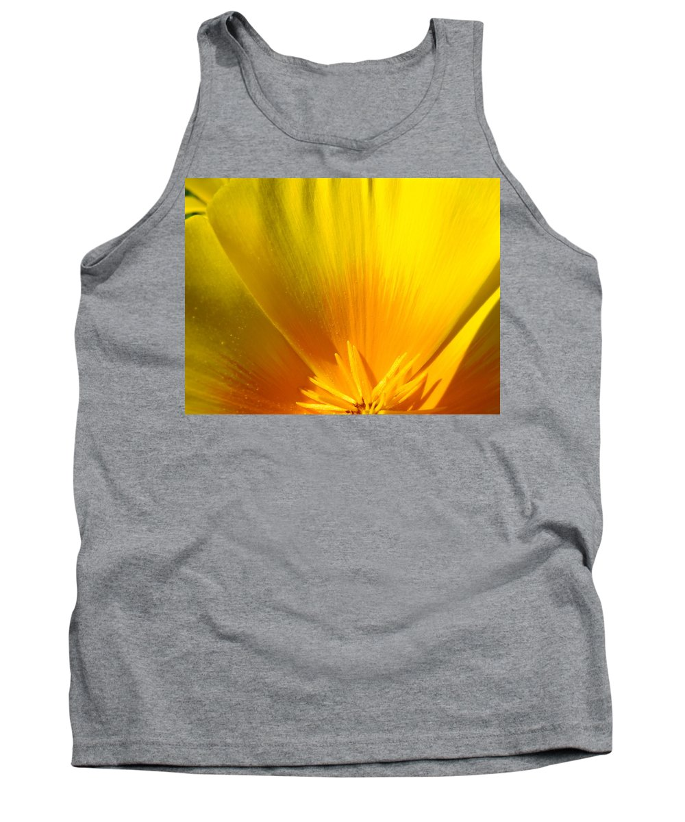 �poppies Artwork� Tank Top featuring the photograph Poppies Orange Poppy Flower Close Up 2 Sunlit Poppy Baslee Troutman by Baslee Troutman