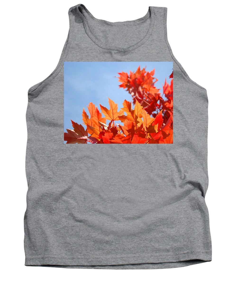Autumn Tank Top featuring the photograph Popular Autumn Art Red Orange Fall Tree Nature Baslee Troutman by Baslee Troutman