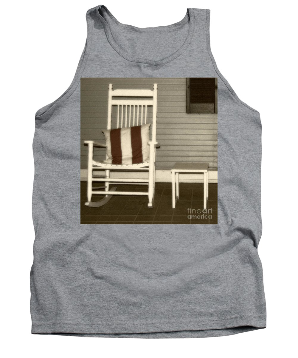 Rocking Chair Tank Top featuring the photograph Porch Rocker by Debbi Granruth