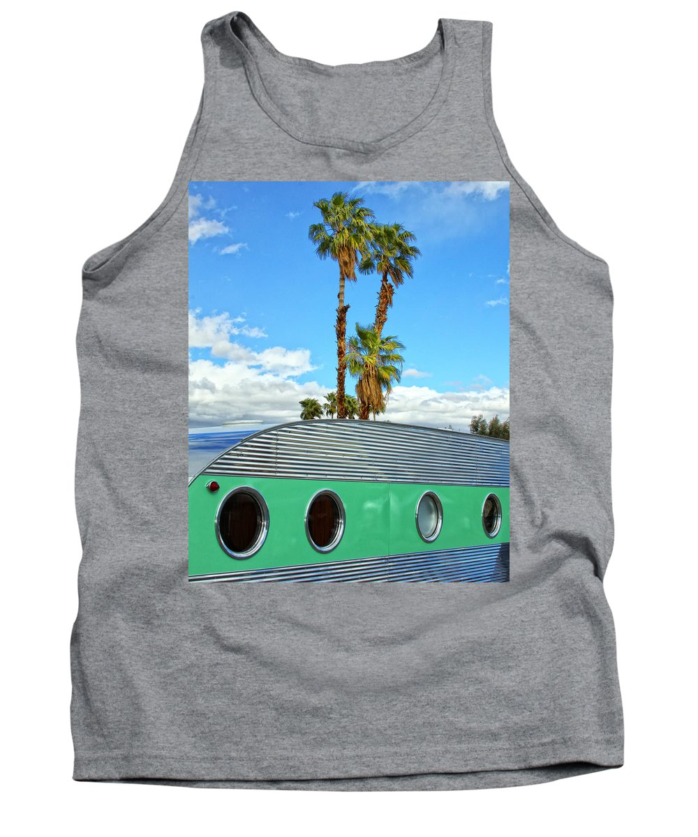 Airstream Tank Top featuring the photograph Portholes Palm Springs by William Dey