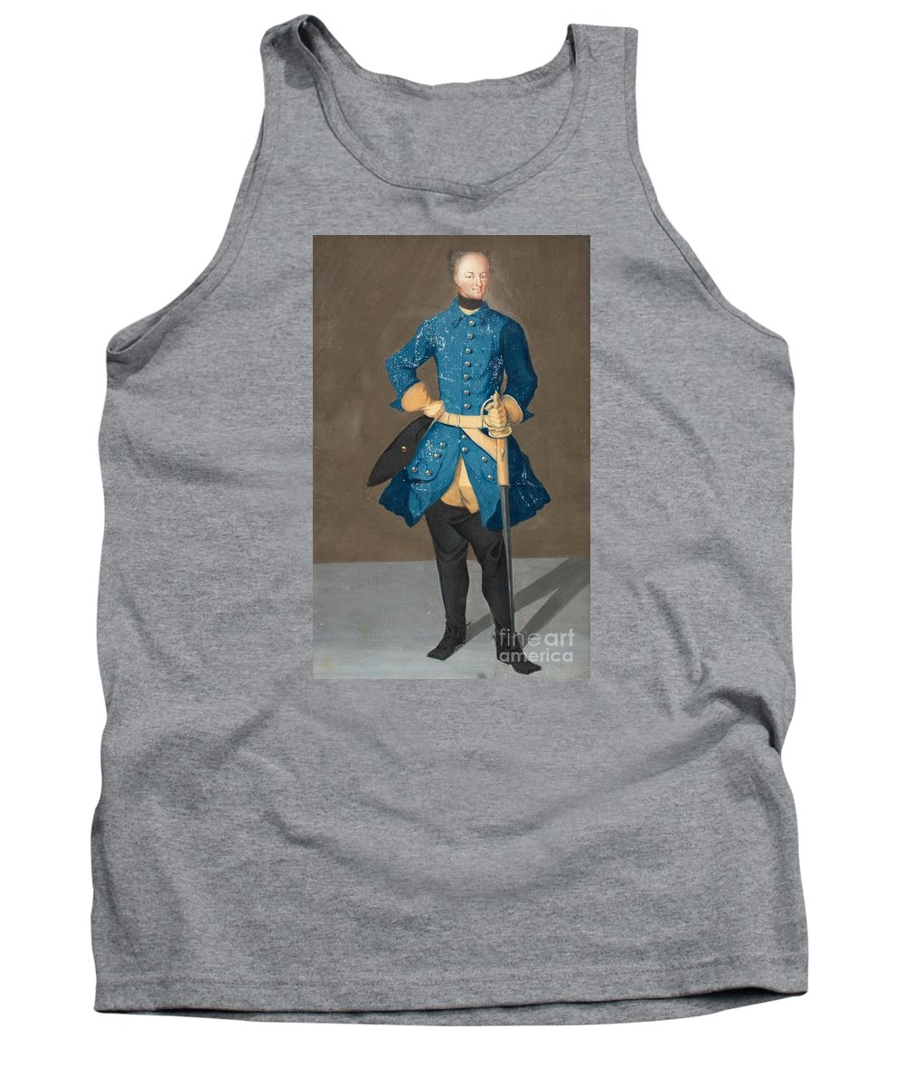 Fullfigure Portrait Of King Karl Xii Of Sweden (1682-1718). Young Tank Top featuring the painting Portrait Of King Karl Xii Of Sweden by MotionAge Designs