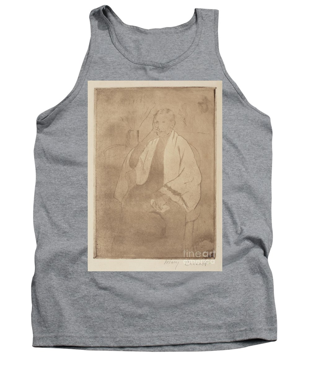 Tank Top featuring the drawing Portrait Of The Artist's Mother by Mary Cassatt
