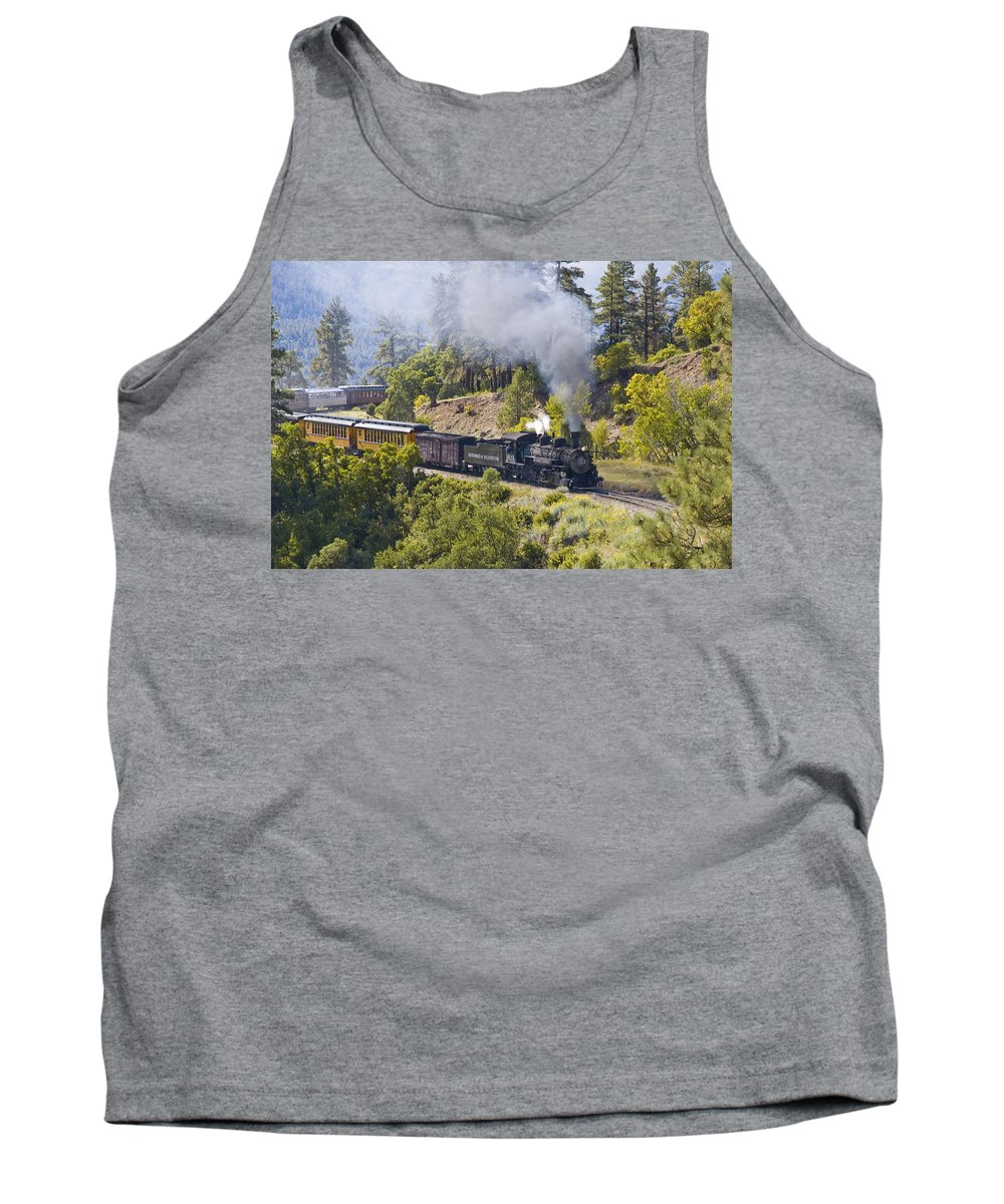 Drgw Tank Top featuring the photograph Pounding Upgrade by Tim Mulina
