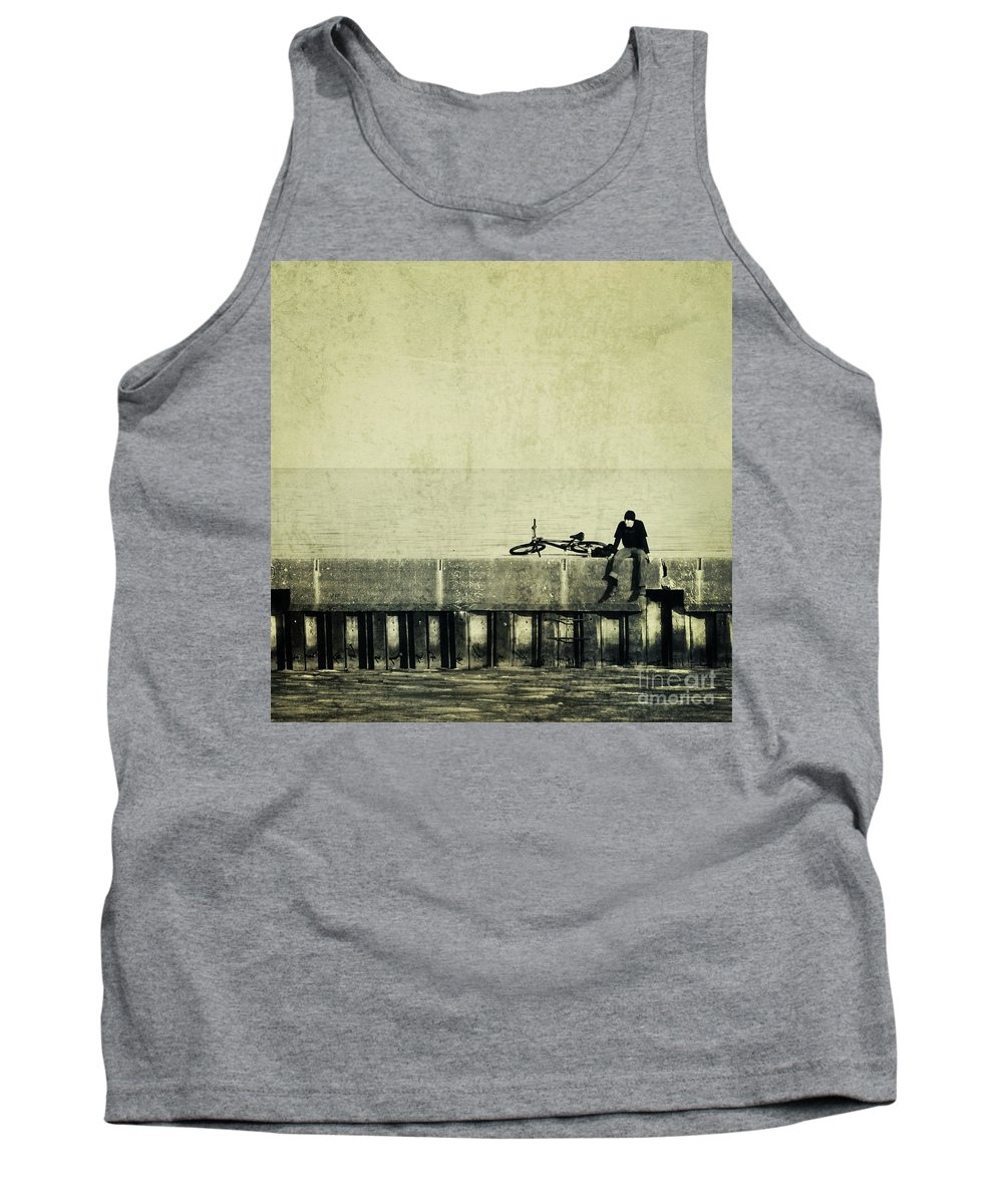 Man Tank Top featuring the photograph Praying To A God I Dont Believe In by Dana DiPasquale