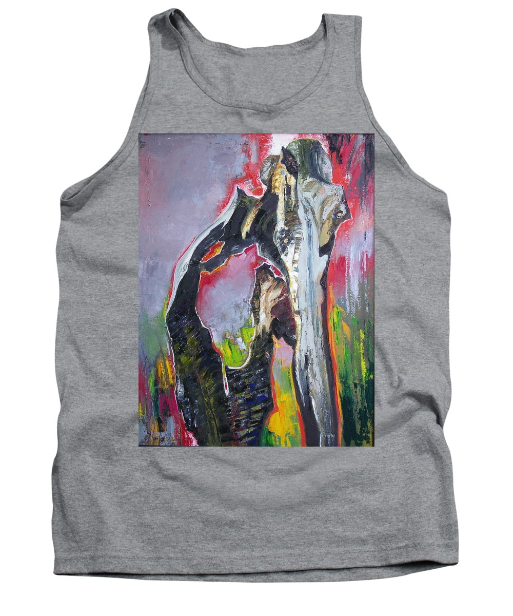 Oil Tank Top featuring the painting Presentiment by Sergey Ignatenko