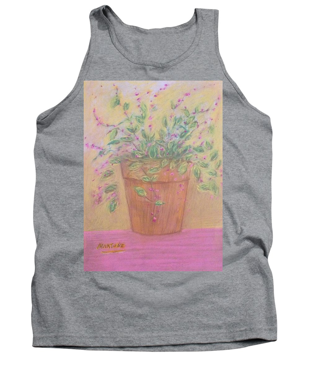 Flowers Tank Top featuring the pastel Pretty Flowers In Pink by Michael Martone
