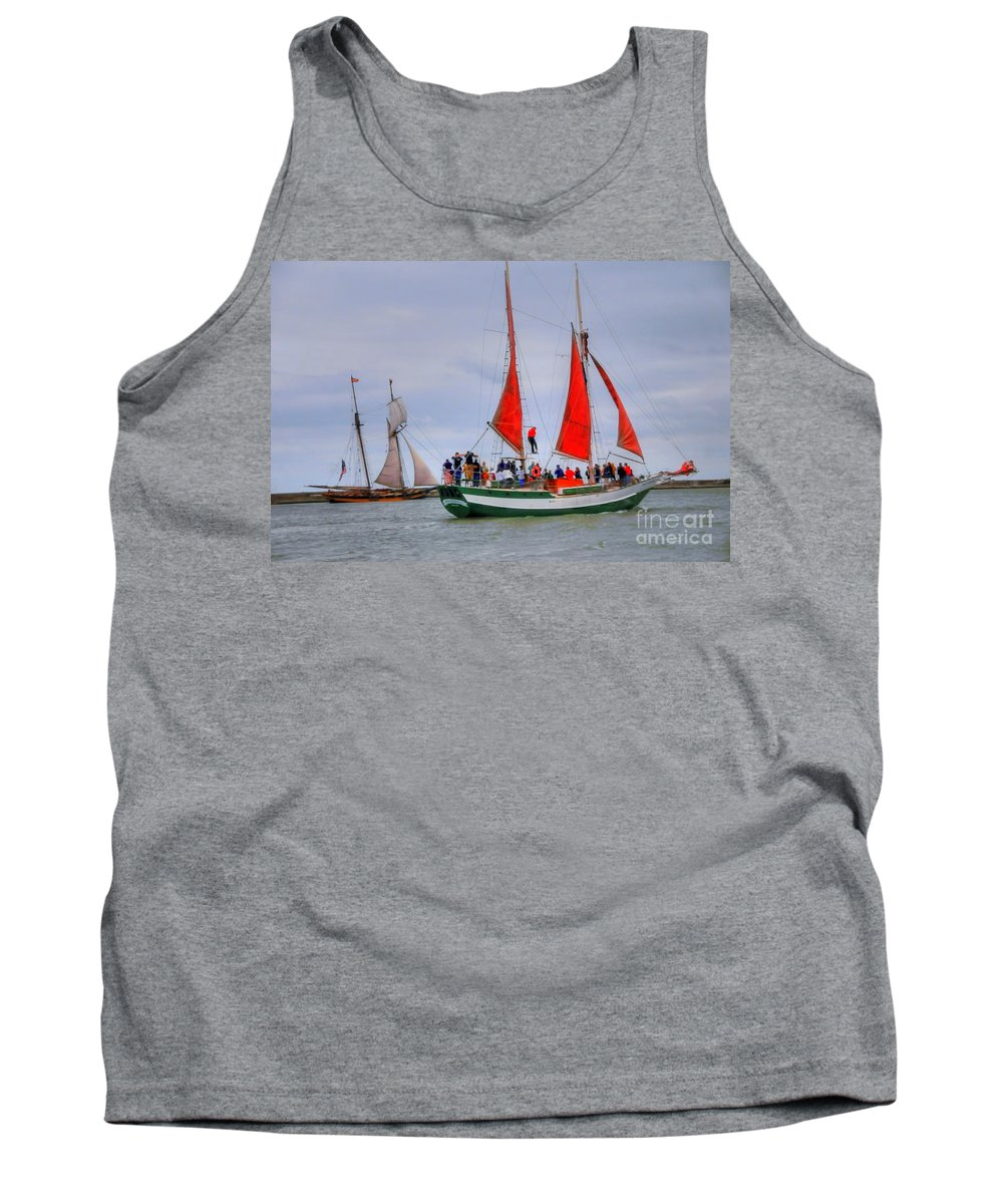 Boat Tank Top featuring the photograph Pride And Spirit by Kathleen Struckle