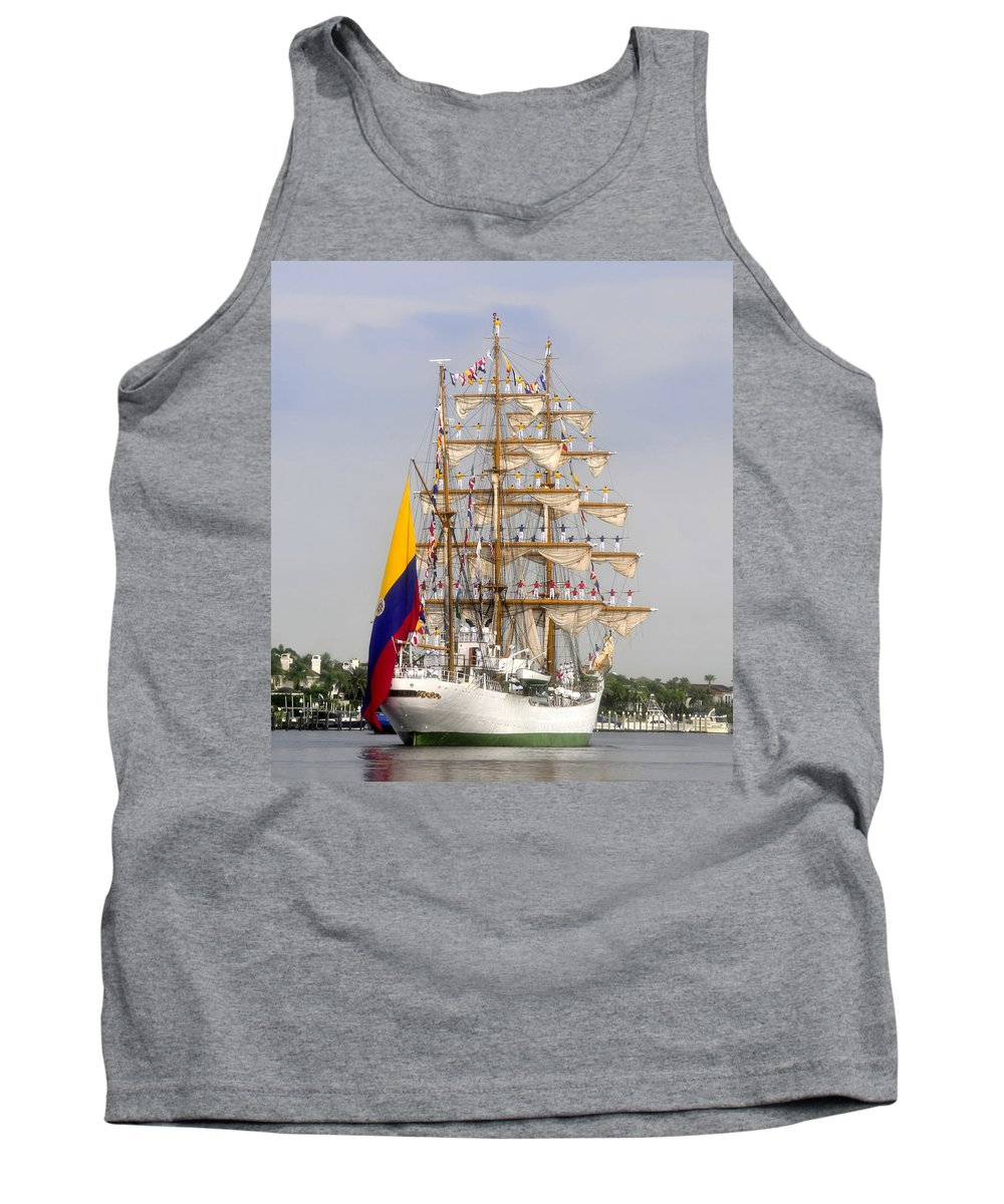 Columbia Tank Top featuring the photograph Pride Of Columbia by David Lee Thompson