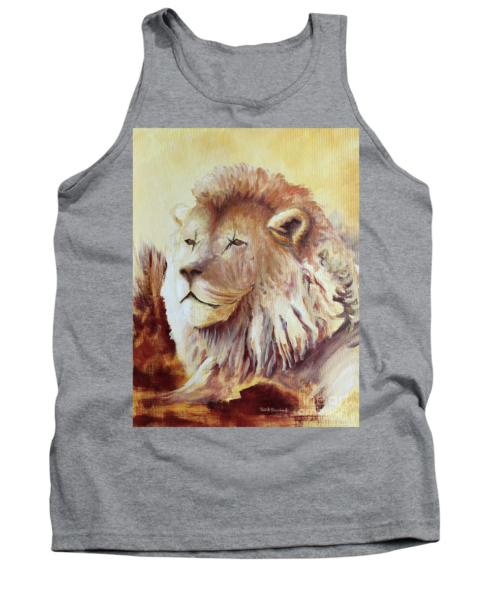 Animal Tank Top featuring the painting Proud by Todd Blanchard