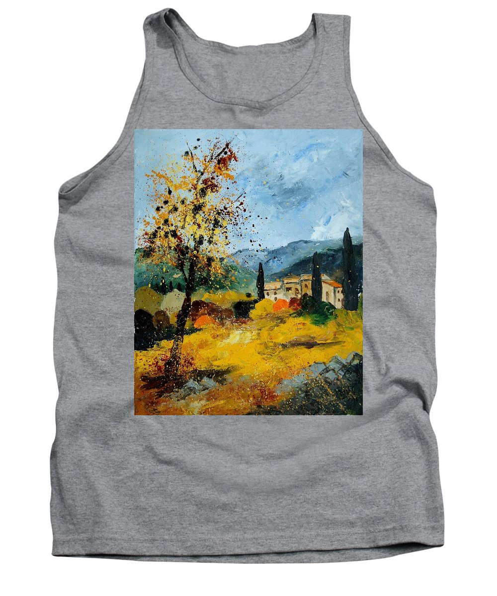 Provence Tank Top featuring the painting Provence 45 by Pol Ledent