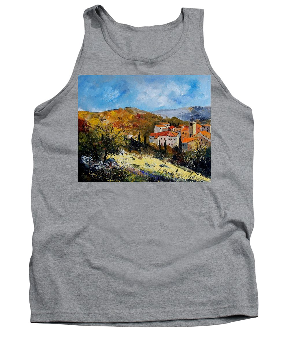 Provence Tank Top featuring the painting Provence 679050 by Pol Ledent