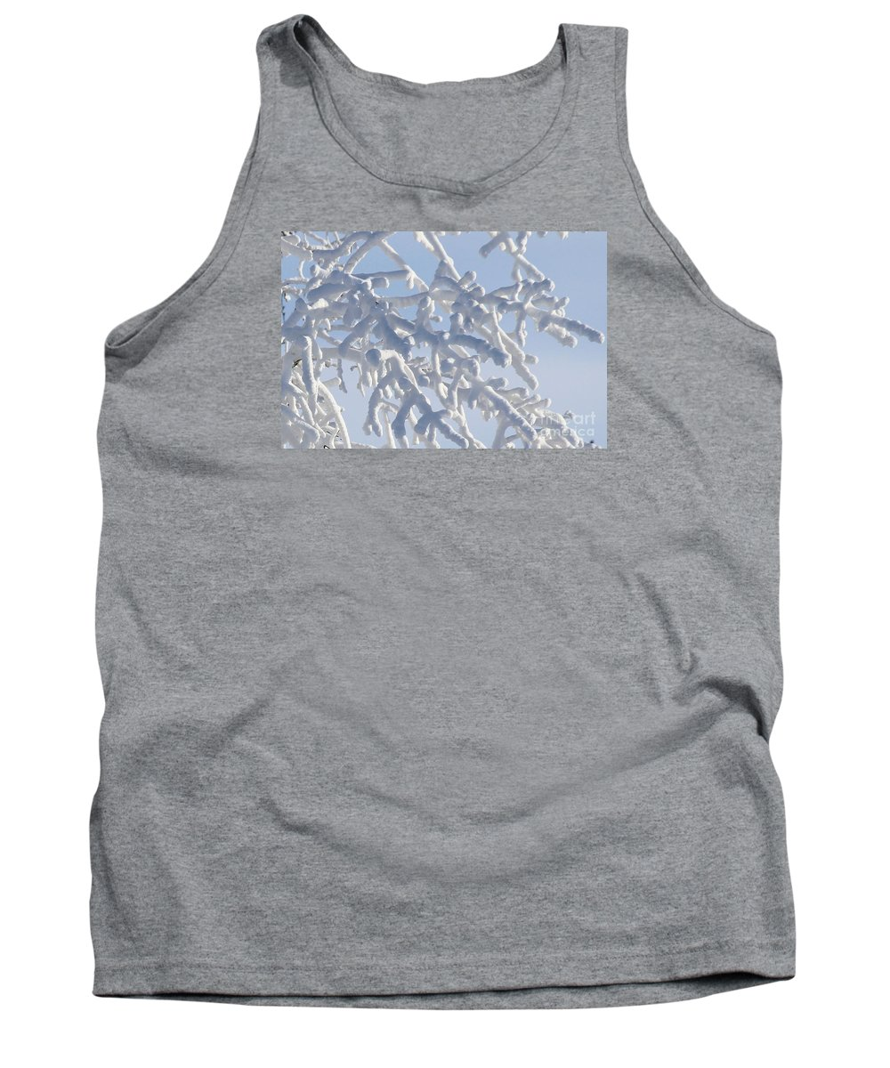 Snow Tank Top featuring the photograph Pudgy Winter Fingers by Peter Jamieson
