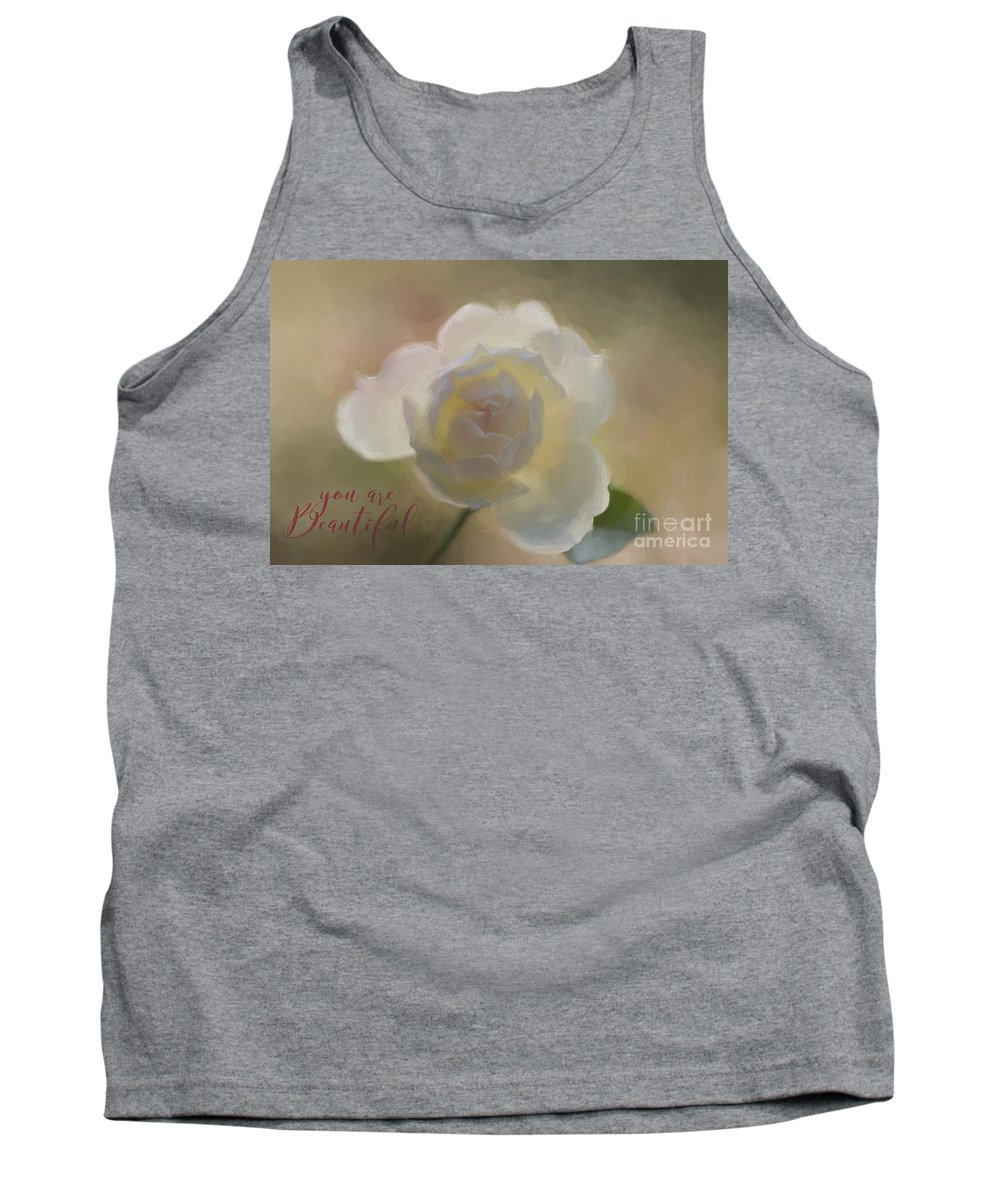 Rose Tank Top featuring the painting Purity by Eva Lechner