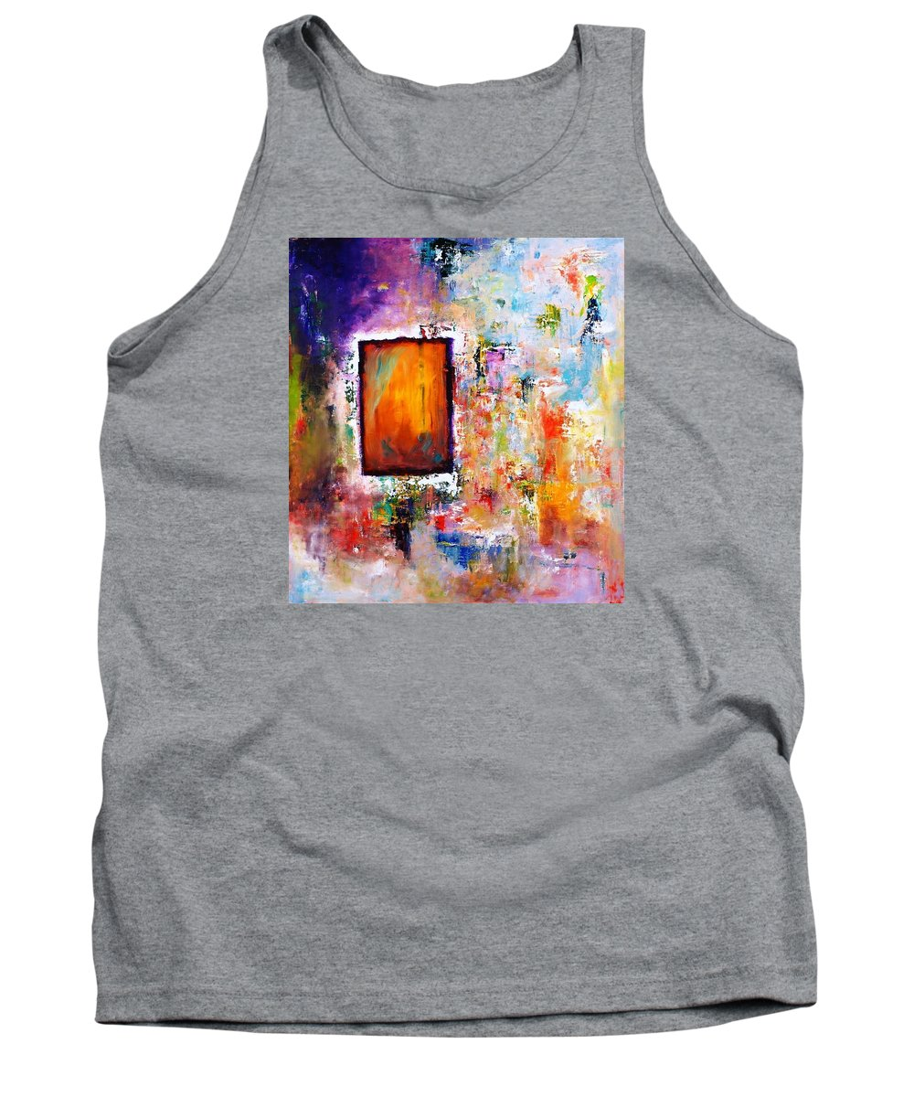 Purple Abstract Oil Painting Tank Top featuring the painting Purple Abstract Oil Painting Purplicious by Sasha Toporovsky