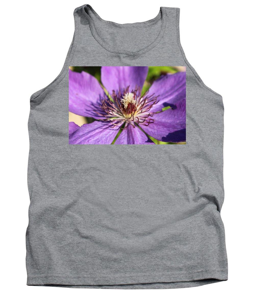 Purple Tank Top featuring the photograph Purple Flower by Lauri Novak