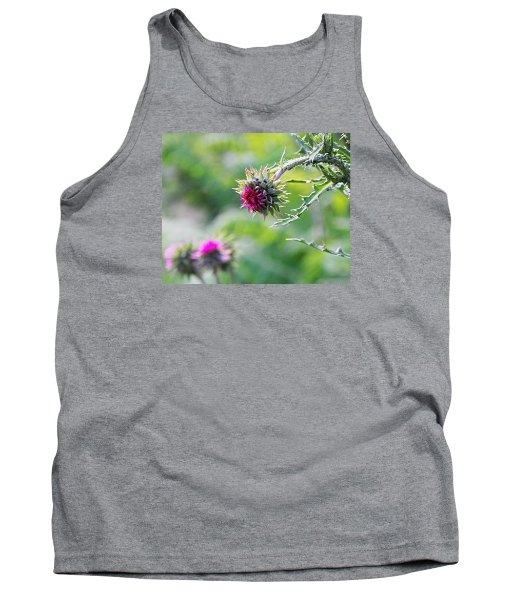 Milk Thistle Tank Top featuring the photograph Purple Milk Thistle by Brent Costenbader