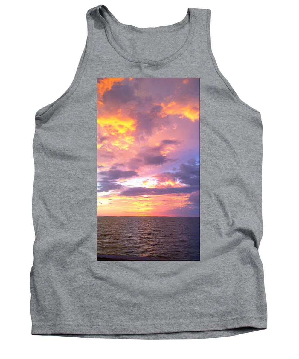Sunset Tank Top featuring the photograph Purple Paradise by Megan Hopper