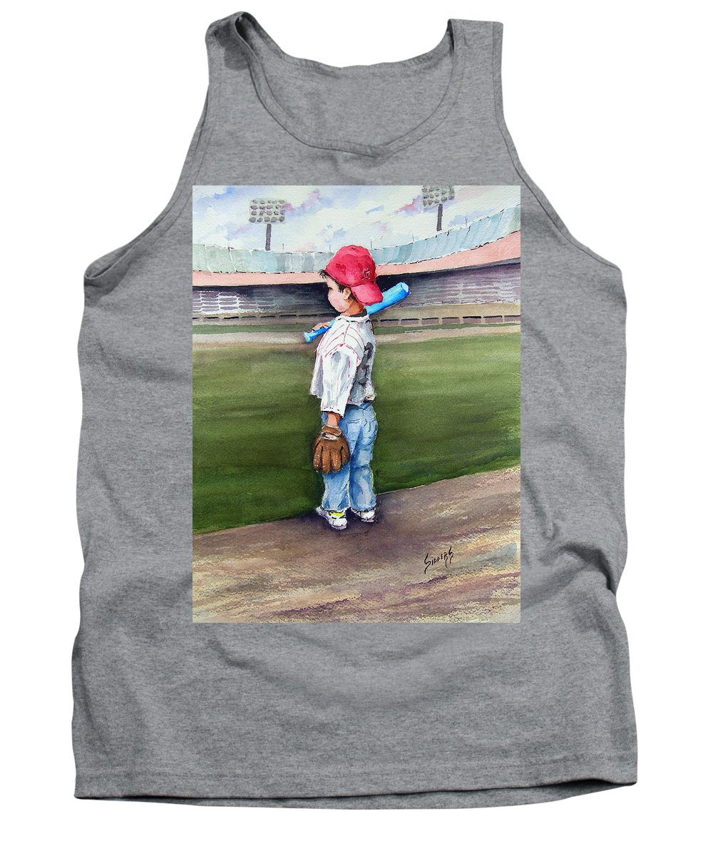 Baseball Tank Top featuring the painting Put Me In Coach by Sam Sidders