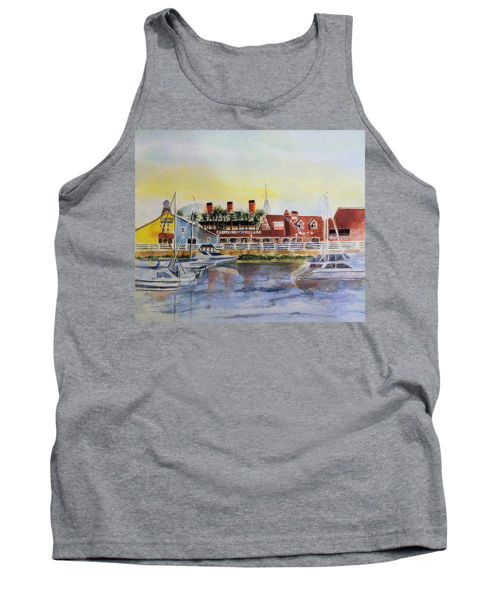 Watercolor Tank Top featuring the painting Queen Of The Shore by Debbie Lewis