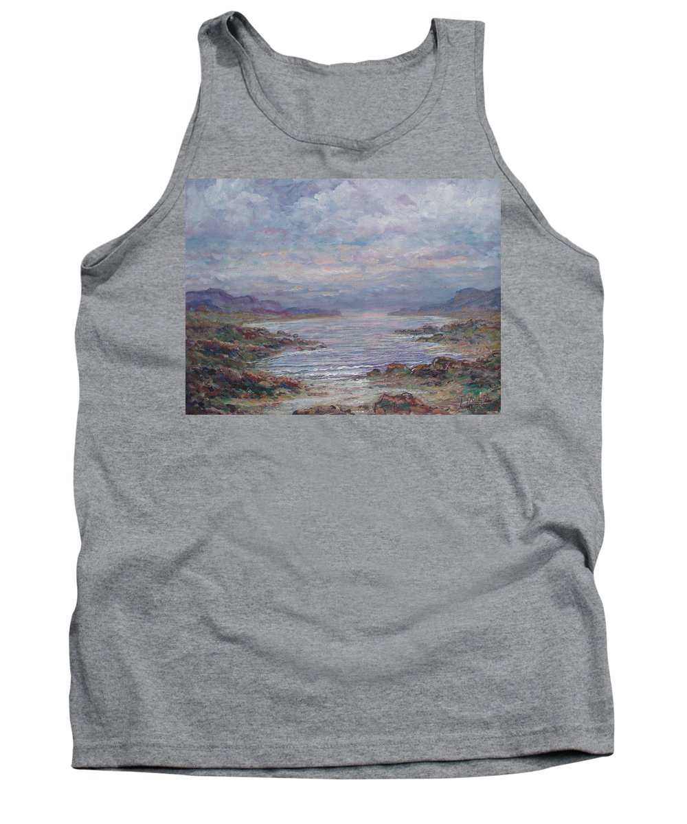 Painting Tank Top featuring the painting Quiet Bay. by Leonard Holland