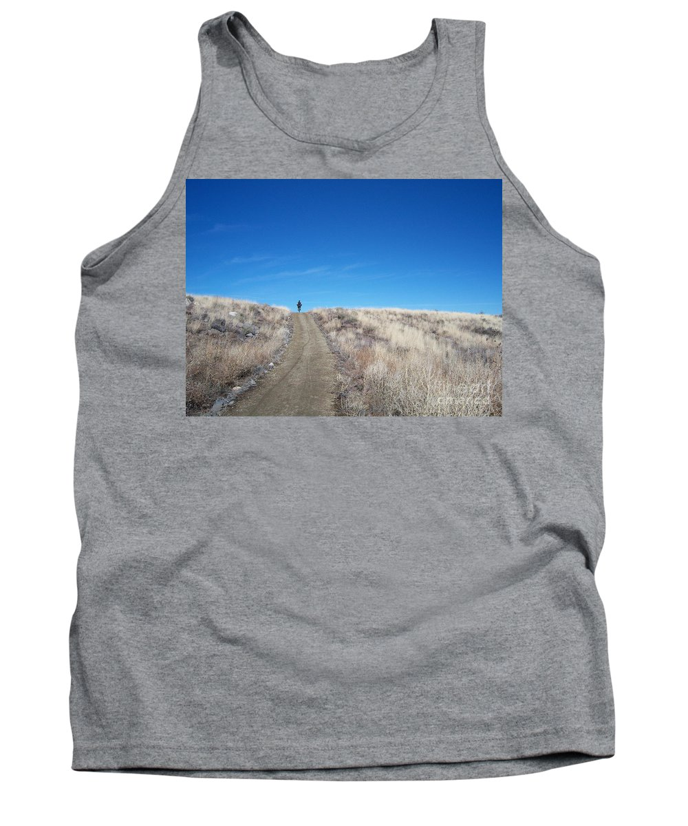Racing Bike Tank Top featuring the photograph Racing Over The Horizon by Heather Kirk