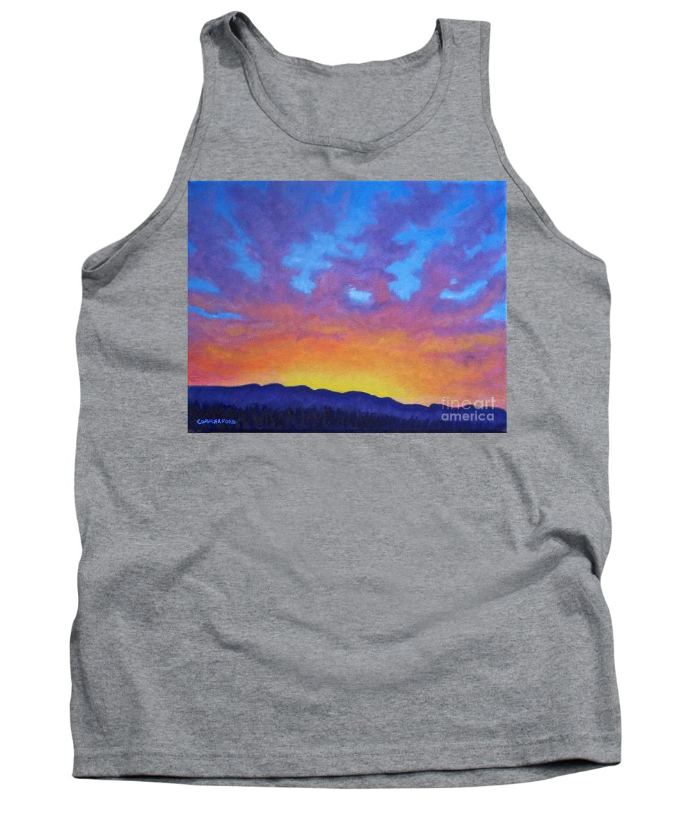 Landscape Tank Top featuring the painting Radiance by Brian Commerford