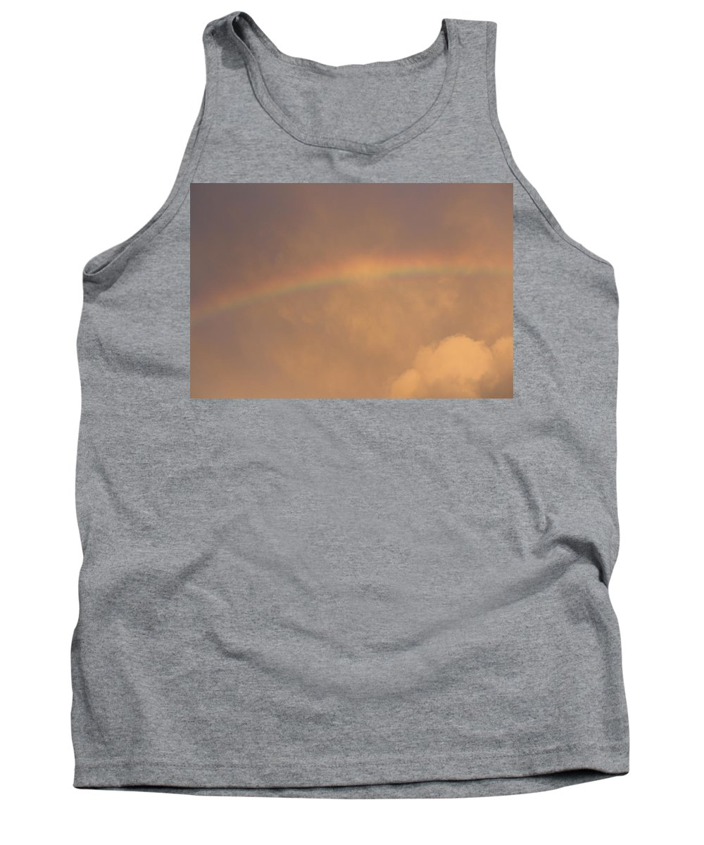 Rainbow Tank Top featuring the photograph Rainbow In Clouds by Donna Walsh