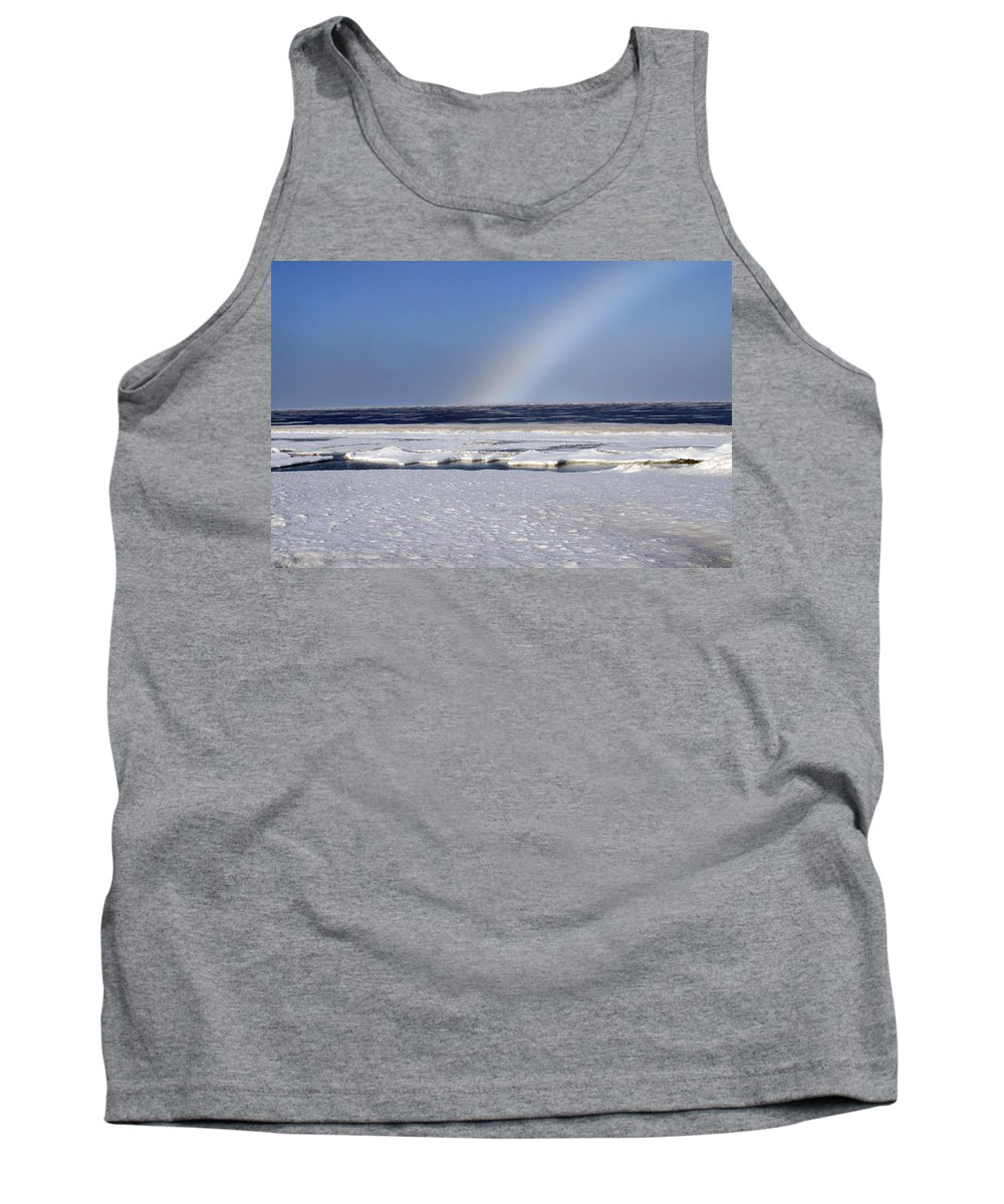 Rainbow Tank Top featuring the photograph Rainbow Over The Arctic by Anthony Jones