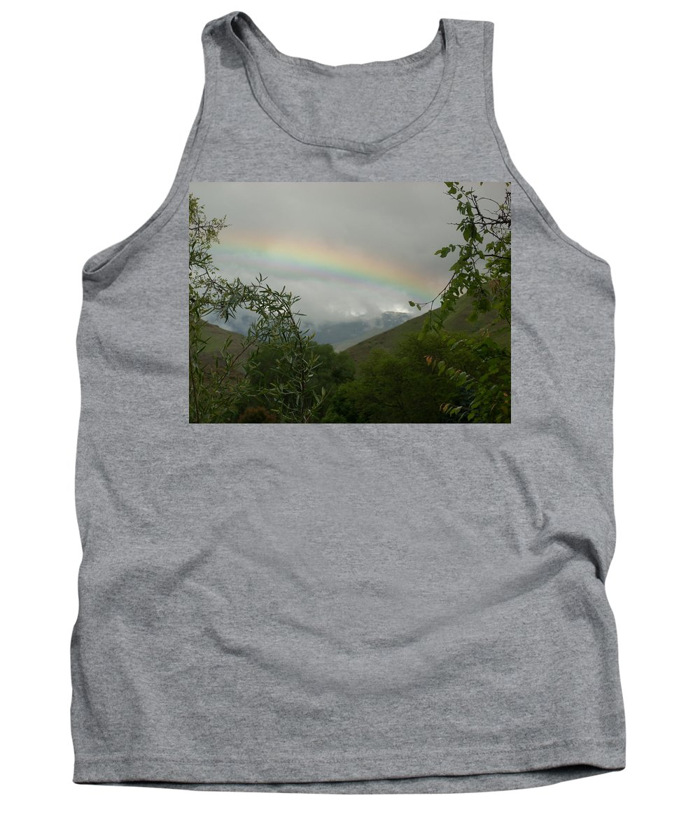 Trees Tank Top featuring the photograph Rainbow by Sara Stevenson