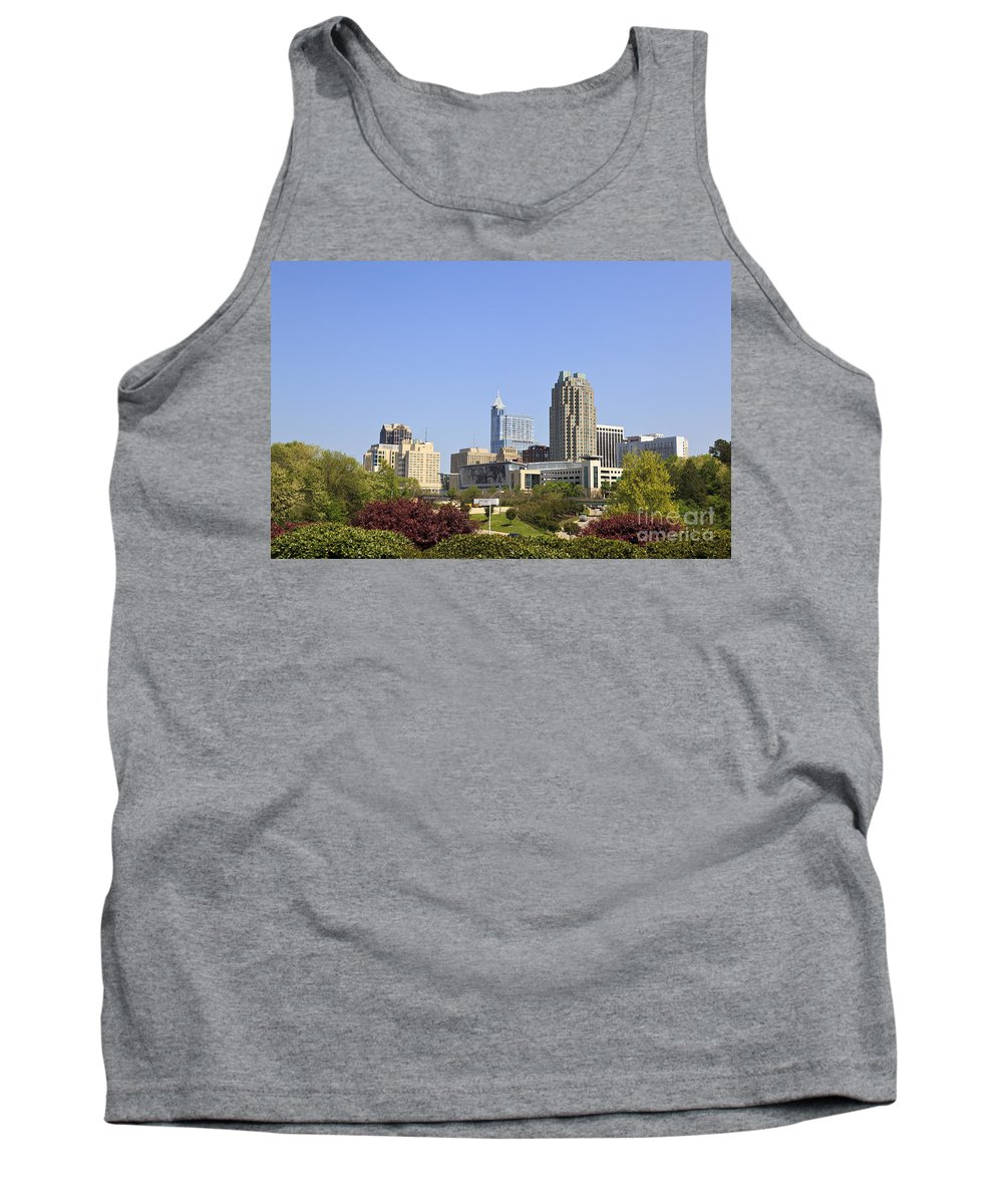 Skyline Tank Top featuring the photograph Raleigh North Carolina by Jill Lang